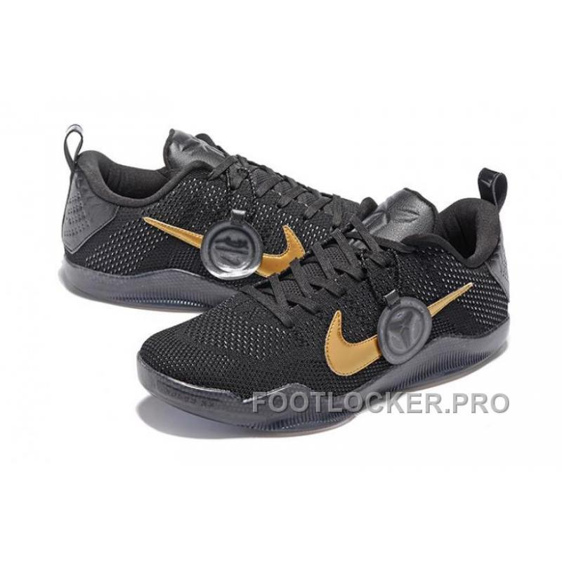5feab35b1213 ... Nike Kobe 11 FTB Fade To Black Mamba In Black Gold Final Game For Sale  ...