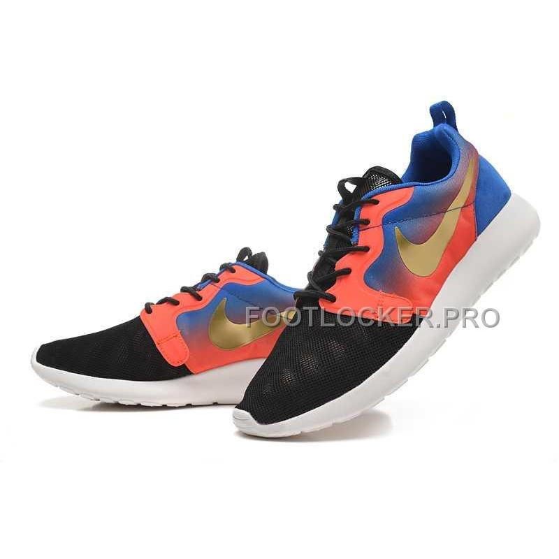 best cheap dc2cb a3516 Nike Roshe Run Hyperfuse QS Mens Black Blue Pink Gold Shoes For Sale ...