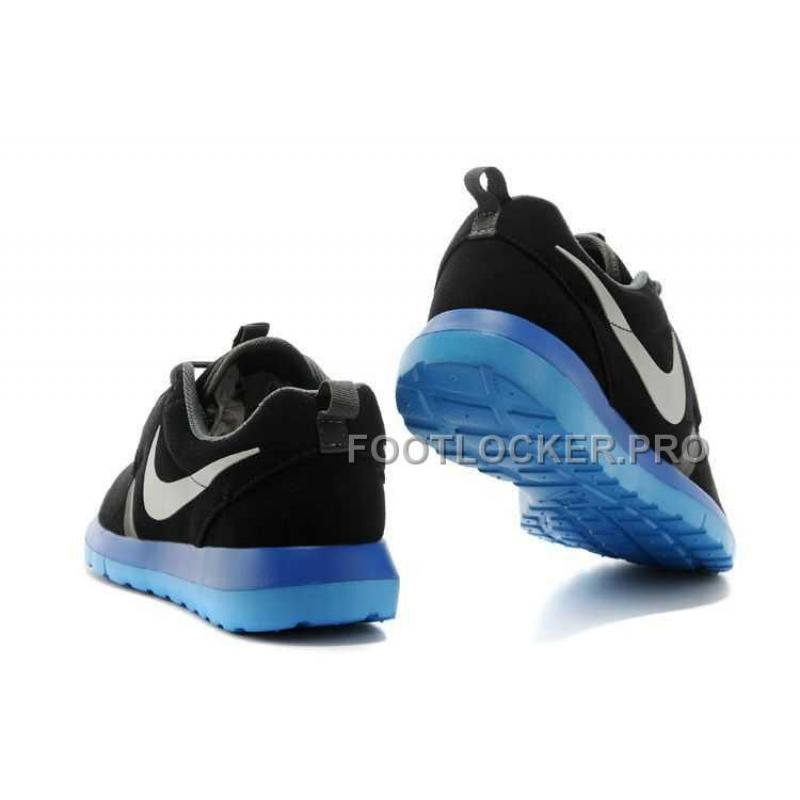 fb89e6df62b5 ... Nike Roshe Run NM Suede Mens Black Blue Jade Shoes For Sale ...