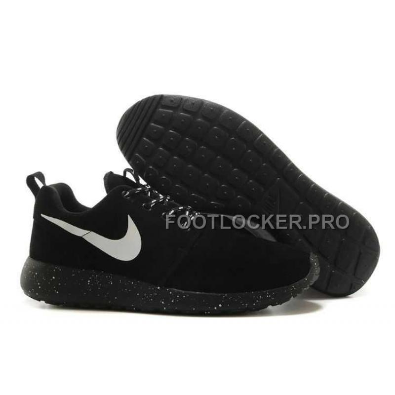 huge discount f42c0 97691 Nike Roshe Run Suede Star Promo Mens Black White Shoes For Sale