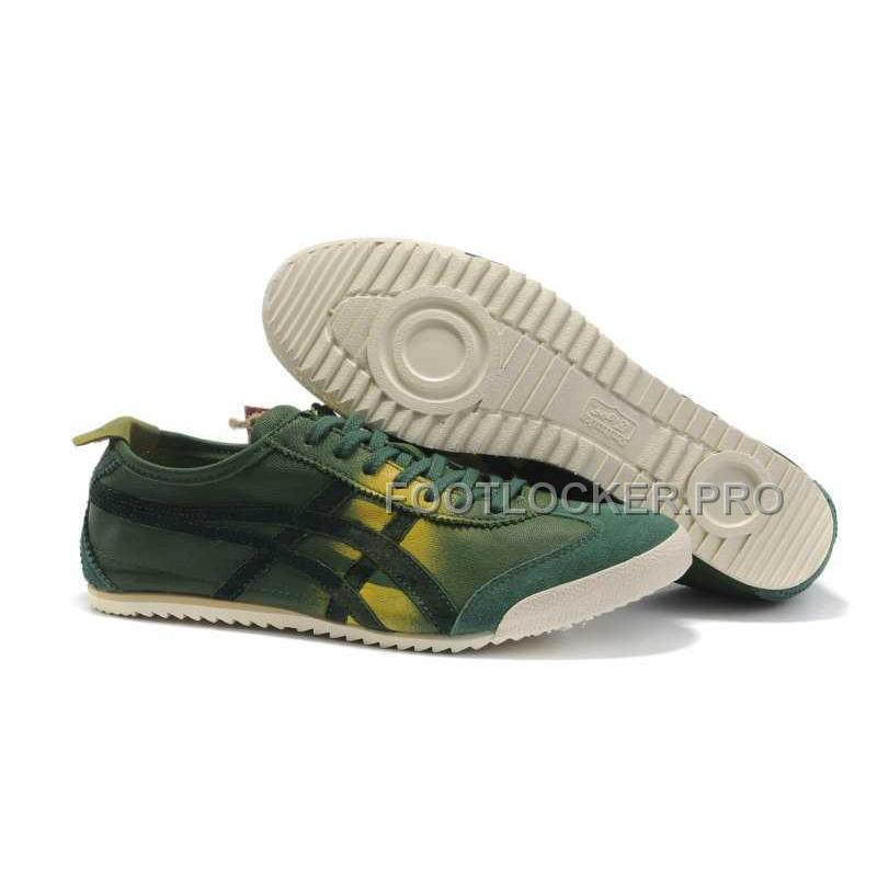 promo code b9ddb 69df1 Onitsuka Tiger Mexico 66 Mens Deluxe Green Yellow Hot