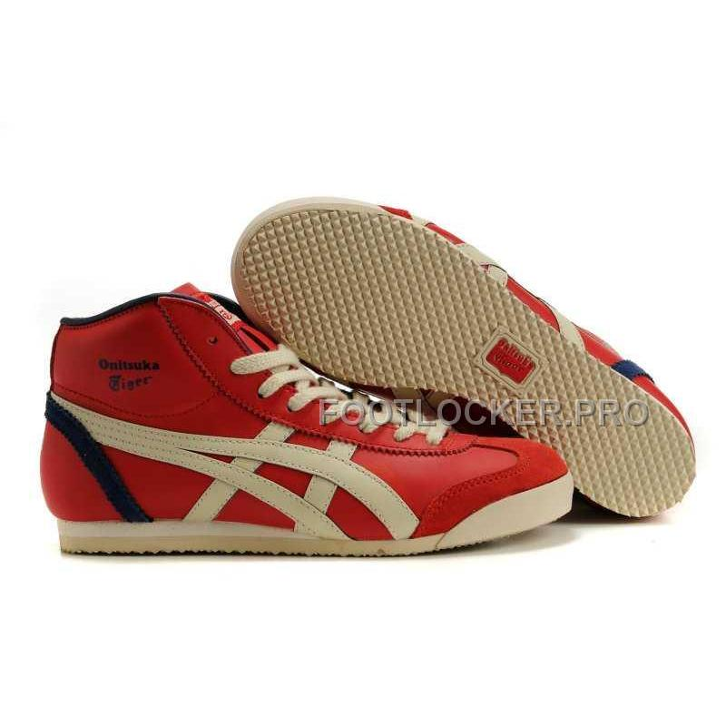 acheter populaire e14cb a65eb Onitsuka Tiger Mid Runner Womens Red Beige For Sale