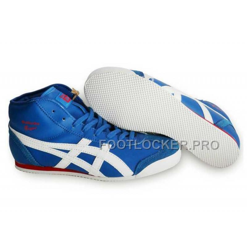 sports shoes 27ac7 0246d Onitsuka TigerMexico 66 THL328 Mid Runner Mens Blue White Red For Sale
