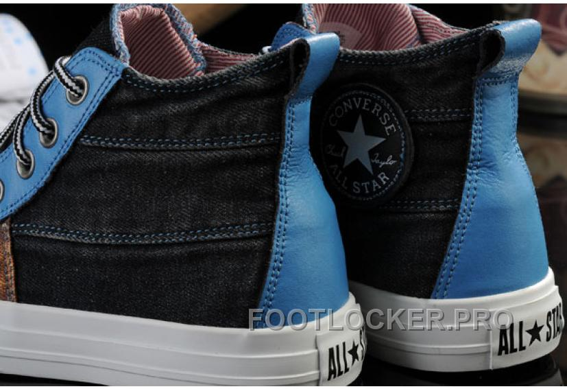 The Avengers Iron Man CONVERSE All Star High Tops Black Brown Blue Tonal Stitching Canvas Shoes Lastest