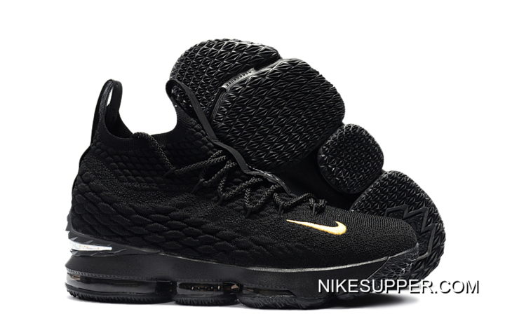 "cbfdd41ffd Nike LeBron 15 ""PK80″ All Black Latest"